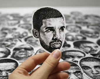 Scribbled Drake - Vinyl Sticker