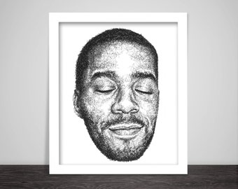 Scribbled Kid Cudi - Hip Hop poster