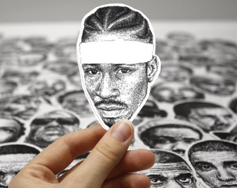 Scribbled Allen Iverson - Vinyl Sticker