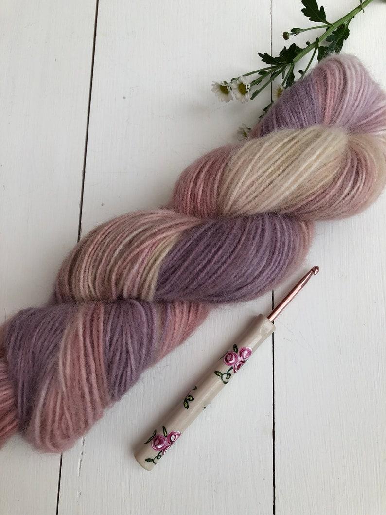free U.K Knitting shipping 100grams Baby Alpaca /&Acrylic Crochet Yarn Fairy Footsteps Under The Stars- Hand Dyed Yarn DK