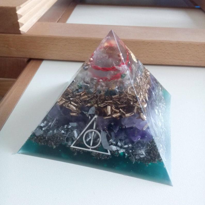 Big large Positive orgone energy resin creation pyramid image 0