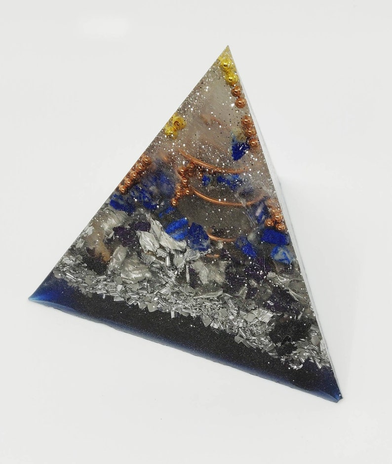 Pyramid  Positive orgone energy resin creation GLOW in the image 0