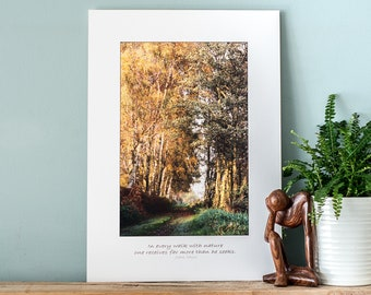 Walk - Fine Art Photography Print with Affirmation to fit a Ready-Made A3/A2 frame