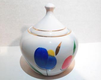 Soviet Vintage porcelain sugar Bowl , 1980s USSR
