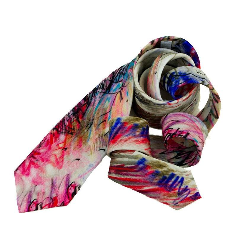 Corbata estampado Dalí Diseño divertido informal Corbata  fbab1e4473d