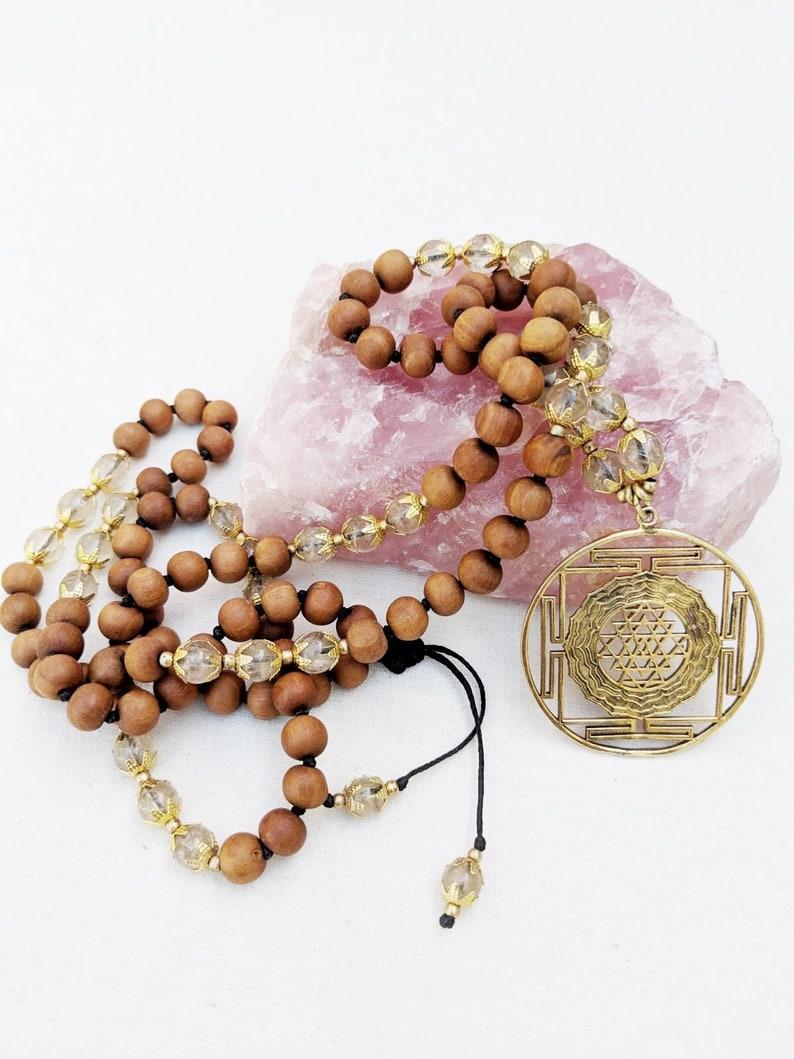 Lava Rudraksha Goddess Saraswati Pendant Pendant Neckalce Yoga Mala 108 Beads