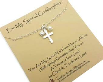 Goddaughter Gifts Necklace Christian Gift For First Communion Jewelry Baptism Confirmation