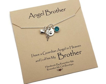 Loss of Brother, In Loving Memory of Brother Memorial, In Remembrance Bereavement and Condolences, Angel Brother