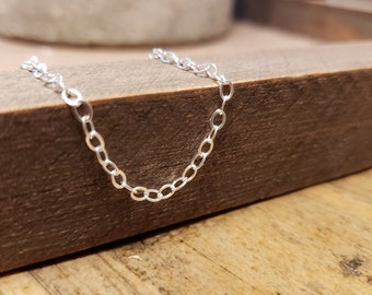 Create Your Own Memorial Jewelry with Cable Chain, DIY Remembrance Necklace in Sterling Silver, Sympathy Gift Idea