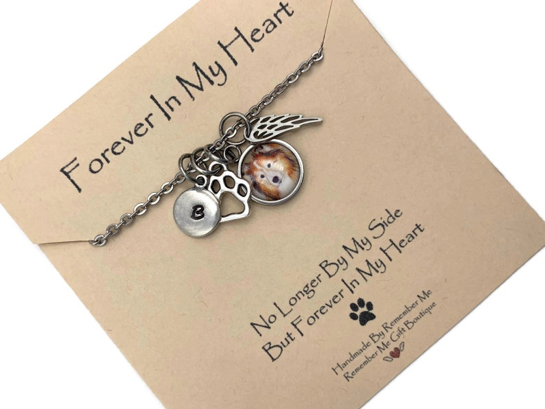 Pet Remembrance Personalized Pet Memorial Jewelry with Photo In Memory of Cat Cat Memorial Pet Sympathy Gift Loss of Dog Gift