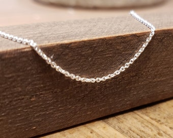 Create Your Own Memorial Jewelry with Dainty Cable Chain, DIY Remembrance Necklace in Sterling Silver, Sympathy Gift Idea