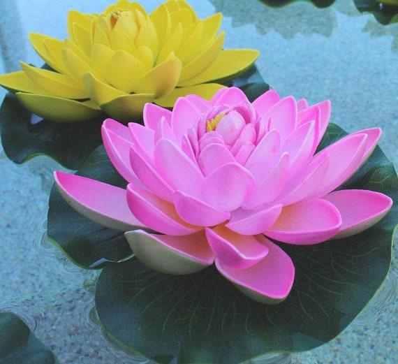 Set Of 5 Foam Floating Lotus Flower Lily Pad For Koi Pond Pool Etsy