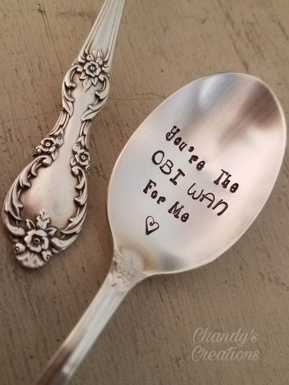 Great Anytime Gift. Customized Hand Stamped Flatware Dinner Spoon With Your Own Text~ Unique