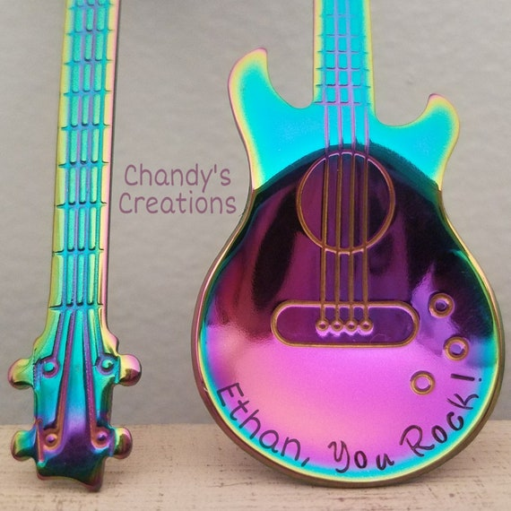 Custom-Guitar-Spoon-Tea-Coffee-Stamped-Personalized-Engraved-P   Etsy