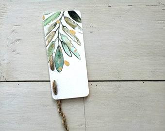 Bookmark Watercolor Favor, handmade, paper bookmarks, custom bookmarks, dedication