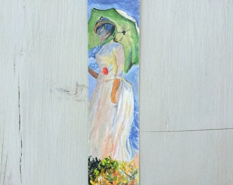 Impressionistic bookmarks Watercolor, handmade, paper bookmarks, custom bookmarks, wedding favors, gift