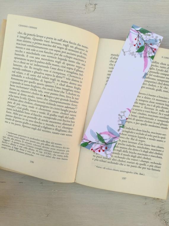 Bookmark printed leaves wreaths, watercolor, paper bookmarks, custom bookmarks, wedding Favors