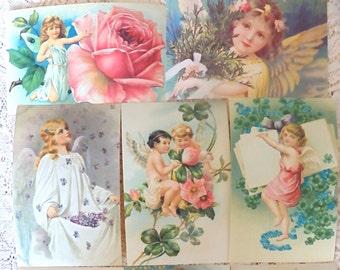 Set of 50 Postcards, Reproduction Vintage Postcards, Paper Ephemera, Altered Art, Junk Journal, Old Postcards, Vintage paper, Craft supplies