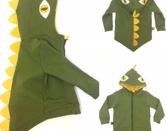 Aslan Original Hooded Jacket for Babies 12-24 Months Dinosaur Water Proof Coat for Babies Baby Zip Hooded Windbreaker
