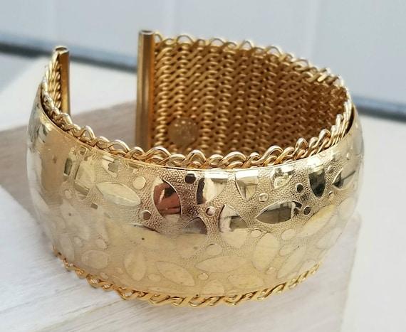 ethnic chic Impressive necklace signed Satellite Paris goldtone vintage 90/'s fashion jewelry.
