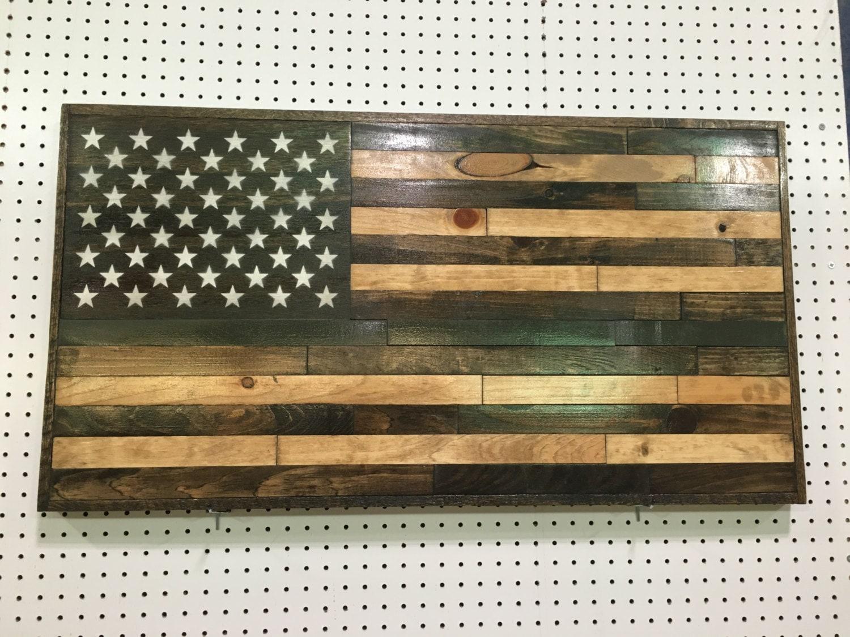 Bandera americana madera reciclada bandera madera hecha a   Etsy