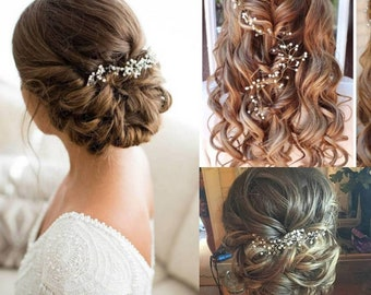 "Made to Order ""Ella"" Hair Vine Bridal Hair Accessory Prom Hair"
