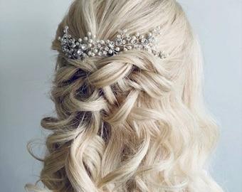 Delicate Hair Vine, Pearl and Diamante Bridal Hair, Wedding Hair Accessory, Bridal Hair Accessory, Prom Hair