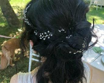 Bridal Hair Accessories, Wedding Hair Accessory, Wedding, Delicate, Hair Accessory, Silver, Gold, Rose Gold Wedding Hair Accessories