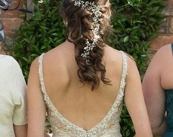 Bridal Hair Accessories, Wedding Hair Accessory, Delicate Hair Vine, Hair Accessory, Silver, Gold, Rose Gold Wedding Hair Accessories