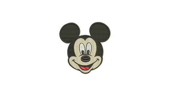 4 Dimensioni Riempito Ricamo Design Piccolo Viso Mouse File Di Download Immediato