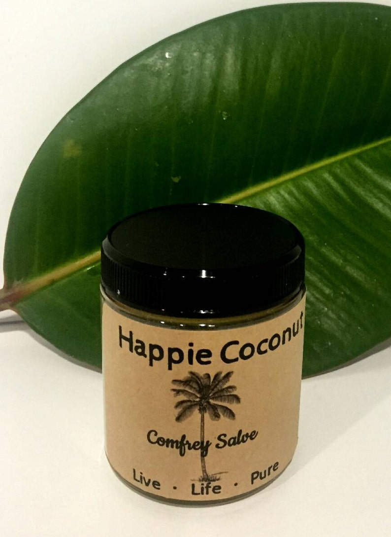 Happie Coconut Comfrey Salve All-natural with Calendula and image 0