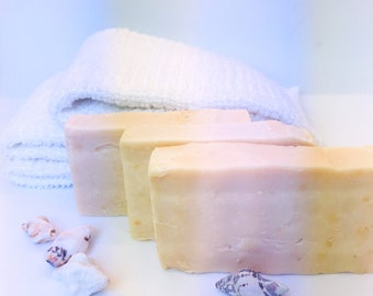 Happie Coconut Clary Sage Goat Milk Soap - All Natural Soap - Handmade Soap - Handcrafted Soap - Sensitive Skin Soap - Natural Soap