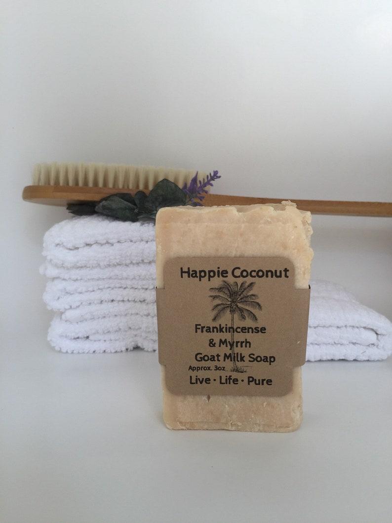Happie Coconut Frakincense & Myrrh With Shea Butter Goat Milk image 0