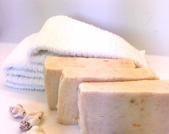 Happie Coconut Grapefruit Goat Milk Soap - All Natural Soap - Handmade Soap - Handcrafted Soap - Sensitive Skin Soap - Natural Soap