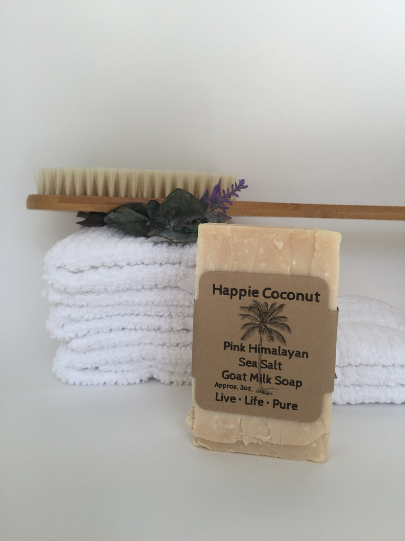 Happie Coconut Goat Milk Soap  All Natural Soap  Handmade image 0