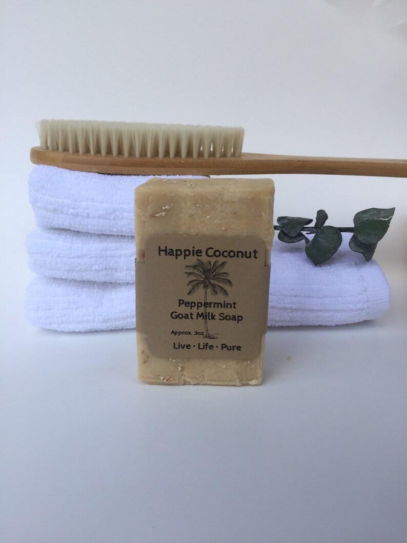 Happie Coconut Peppermint Oatmeal & Honey Goat Milk Soap  All image 0