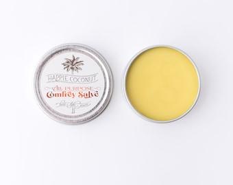 Comfrey Salve with Calendula - All-natural Wellness - Natural herbal salve - Antibacterial Cream - Tea tree balm - Dry skin - Rash