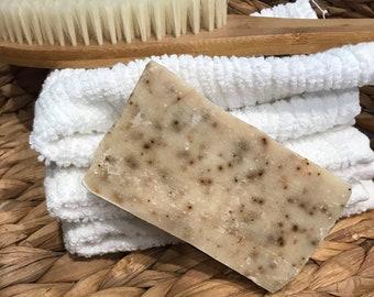 Happie Coconut Coffee Bean Goat Milk Soap - All Natural Soap - Handmade Soap - Handcrafted Soap - Sensitive Skin Soap