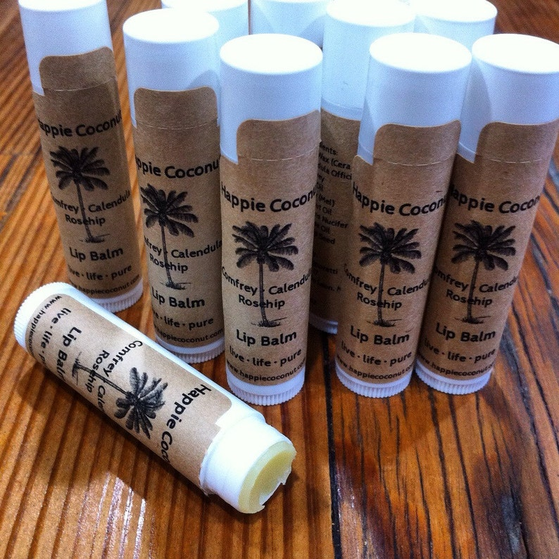 3 Pack-Comfrey Calendula Lip Balm infused with Rosehip image 0