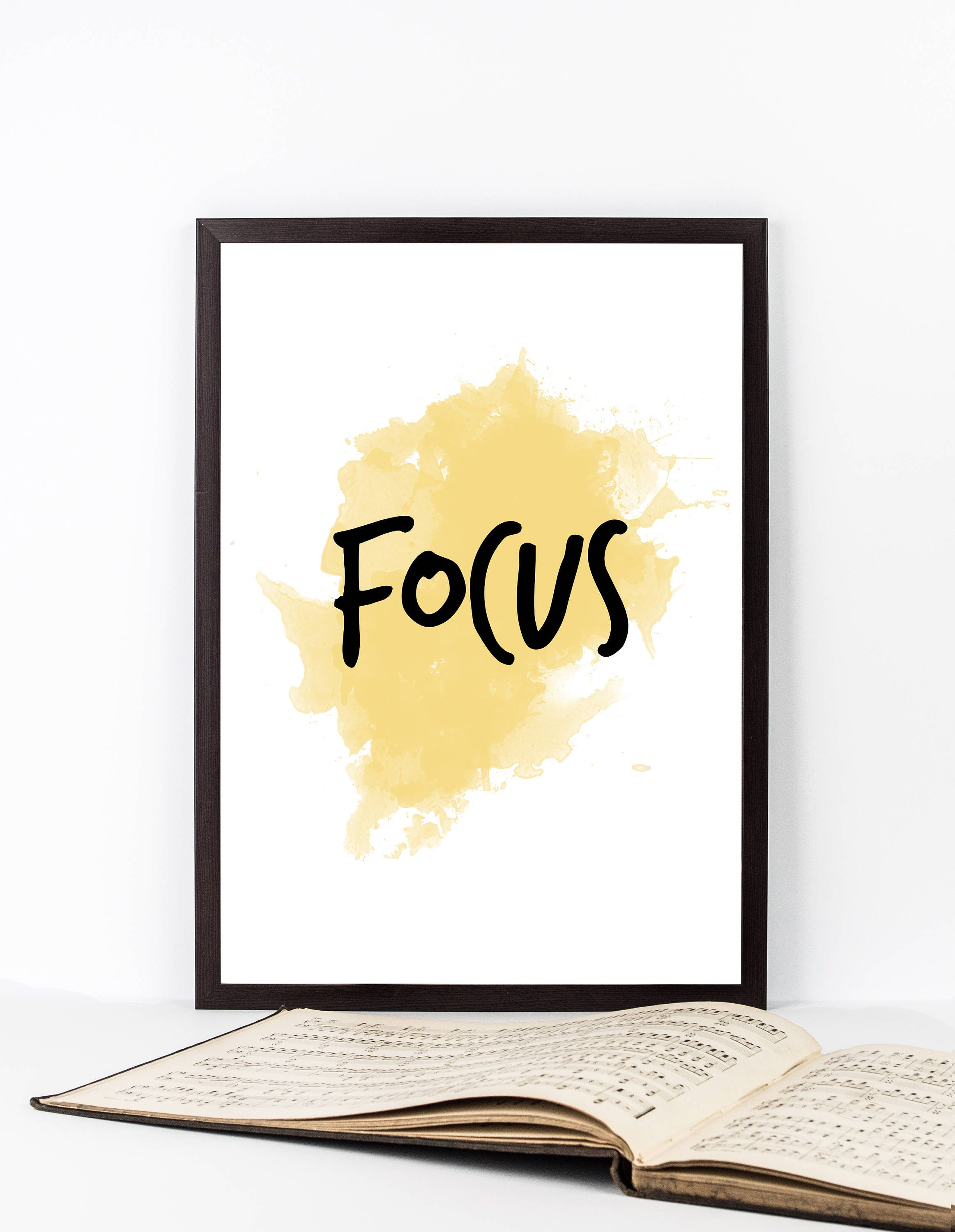 Focus Focus Wall Art Focus Quote Art Watercolor Focus | Etsy