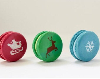 Polymer clay macarons. Christmas decoration idea. Can be made for cake toppers.