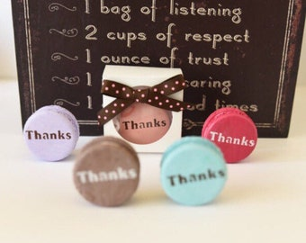 Keepsake Polymer clay macaron / can be made as magnets. Thank you gift.