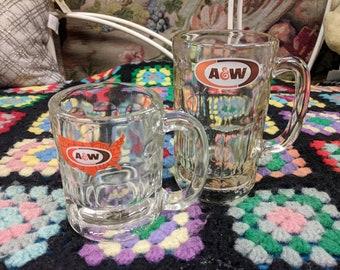 2 Reto A&W Mugs