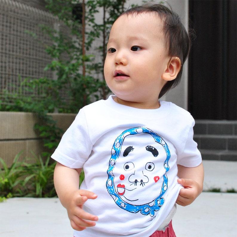 Japanese baby japan tshirt hyottoko Hyottoko Baby/'s T shirt baby tshirt kawaii top japanese gift idea, japanese baby gift
