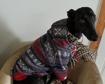 Whippet and Greyhound Hoodie, Cotton knit, Fleece and Sweater Fleece