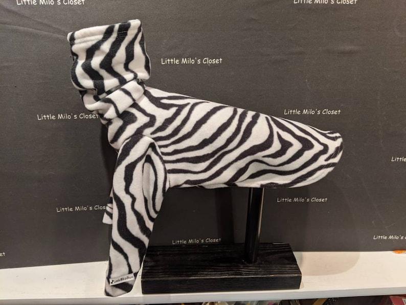 Long sleeve fleece tops Cozy dog winter tops Ready to Wear tops Animal Print Italian Greyhound Tops