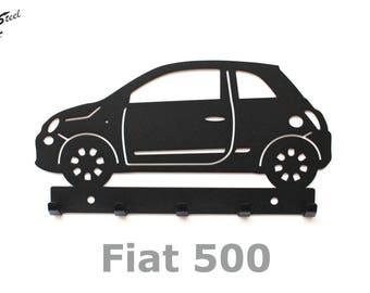 Key rack Fiat 500, design, gift, idea