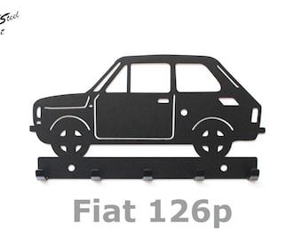 Key rack Fiat 126p, design, gift, idea