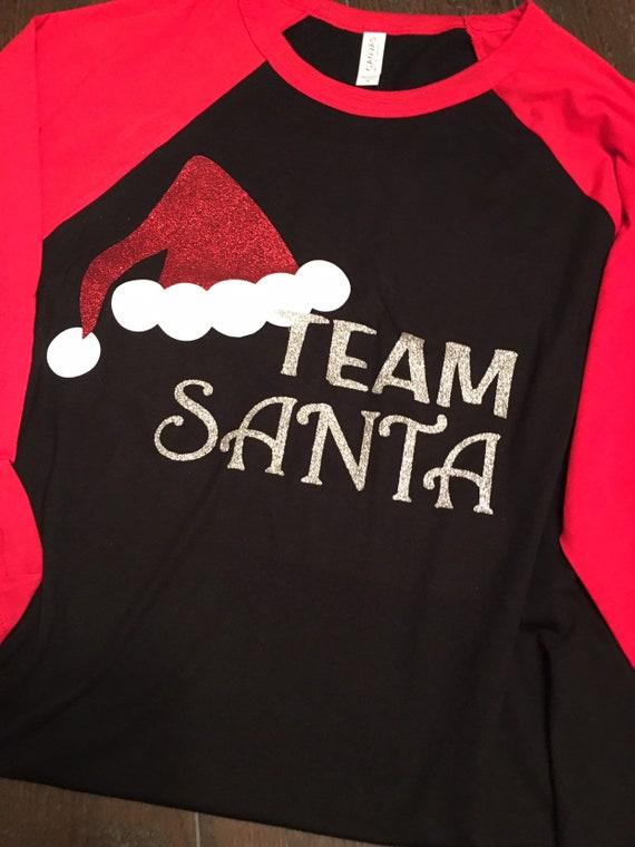 cd9eea64 Team Santa/holiday /Christmas /santa hat/all glitter womens   Etsy