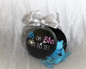 Christmas Gender Reveal Ideas.Ornament Gender Etsy